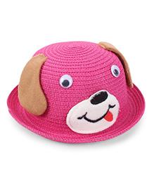 Babyhug Hat Puppy Design - Dark Pink Brown