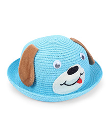 Babyhug Hat Puppy Design - Aqua Blue Brown