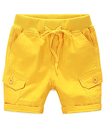 Mauve Collection Pocket Shorts - Yellow