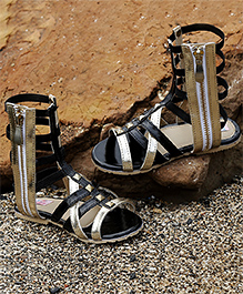 D'Chica Gladiators Look Chic Sandals - Black