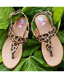 D'chica Fab With It Sandals For Her - Brown & Black