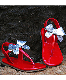D'chica Fashionable Bow Sandals For Her - Red