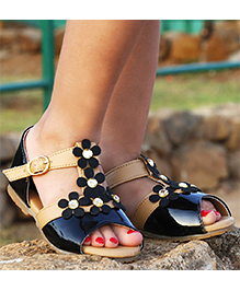 D'chica  Chic Sandals For Her - Black & Beige