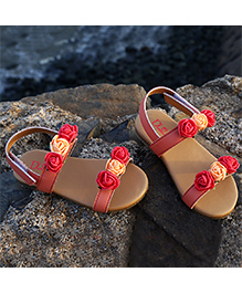 D'chica Chic & Summery Sandals For Her - Peach