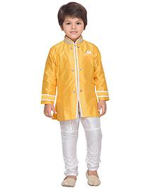 AJ Dezines Kurta And Breeches Set - White And Yellow