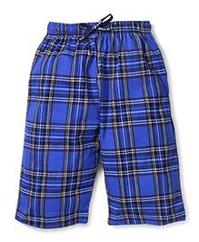 Ollypop Bermuda Check Shorts With Drawstring - Blue