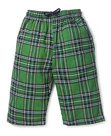 Ollypop Bermuda Check Shorts With Drawstring - Green