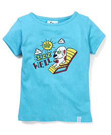 Zeezeezoo All Is Well T-shirt  - Light Blue