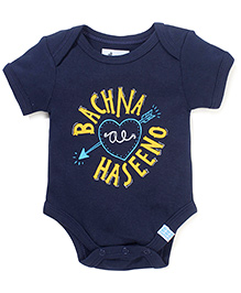 Zeezeezoo Stylish Printed Onesie - Dark Blue