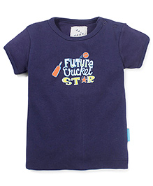 Zeezeezoo Future Cricket Star T-Shirt  - Dark Blue
