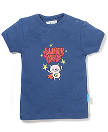 Zeezeezoo Super Bro T shirt  - blue