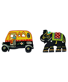 Desi Toys Desi Fridge Chumbak Black And Yellow -  Pack Of 2