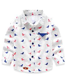 Cherubbaby Bird Print Shirt - White