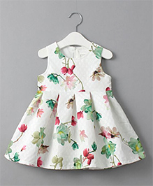 Cherubbaby Floral Print Dress - White