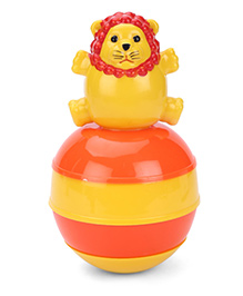 Ratnas Baby Touch Roly Poly Lion - Yellow And Orange