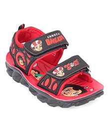 Chhota Bheem Printed Sandals - Red Black