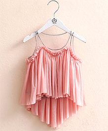 Pre Order : Mauve Collection Cute Layered Top -  Peach