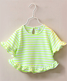 Pre Order : Mauve Collection Cute Batwing Top -  Green