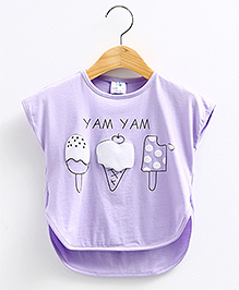 Pre Order : Mauve Collection Cute Icecream Batwing Style Top -  Purple