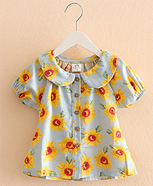 Pre Order : Mauve Collection Pretty In Sunflower Prints -  Blue & Yellow