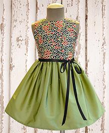 A.T.U.N Kashmir Wallpaper Sequin Embroidered Dress - Light Green