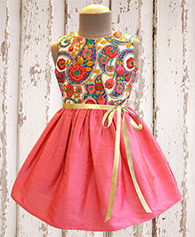 A.T.U.N Rouge Bloom Embroidered Dress - Pink