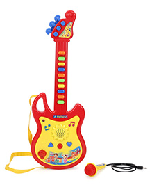 Smiles Creation Musical Guitar With Mic - Red