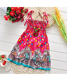 Pikaboo Printed Singlet Summer Dress - Pink
