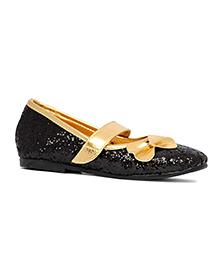 Pikaboo Essentials Sparkly Toddler Ballet Shoes - Black