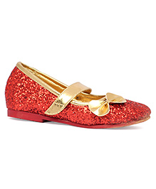 Pikaboo Essentials Sparkly Toddler Ballet Shoes - Red