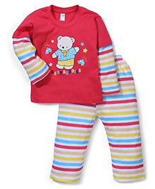 Tango Doctor Sleeves T-Shirt And Bottoms Best Buddies - Red