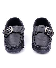 Alle Alle Soft Leather Baby Mocassin - Black
