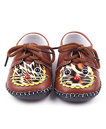 Alle Alle Shoes Style Booties Animal Design - Brown