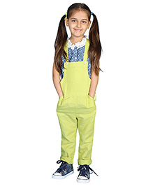 My Lil' Berry Sleeveless Dungaree - Lime Green