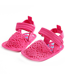 Little Hip Boutique Anti Slip Knitted Pre Walkers - Hot Pink