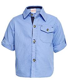 FS Mini Klub Long Sleeves Dobby Shirt - Blue