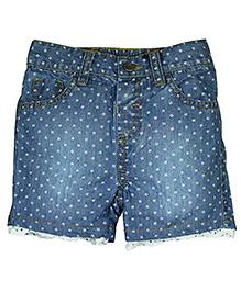FS Mini Klub Dotted Denim Shorts - Blue