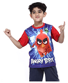 Angry Birds Printed Half Sleeves T-Shirt - Red