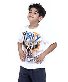 Angry Birds Printed Half Sleeves Cotton T-Shirt - White