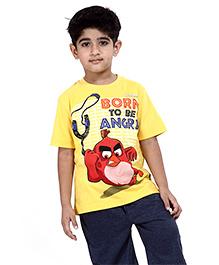 Angry Birds Printed Half Sleeves Cotton T-Shirt - Yellow