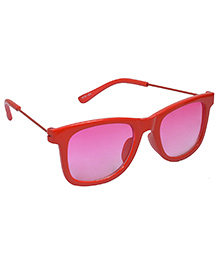 Spiky Wayferer Sunglasses With Case - Red and Pink