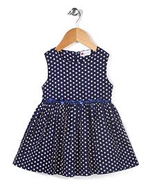 Adores Polka Dot Dress - Navy Blue