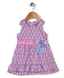 Adores Bow Print Dress - Purple