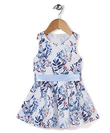 Adores Flower Print Dress - Blue