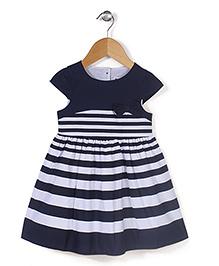 Adores Stripe Print Dress - Black