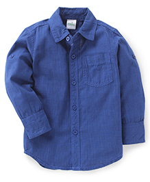Babyhug Full Sleeves Shirt Checks Print - Blue