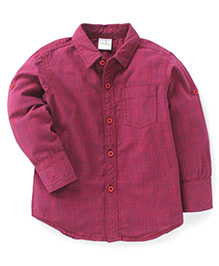 Babyhug Full Sleeves Shirt Checks Print - Red