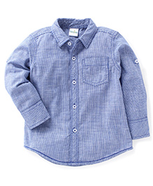 Babyhug Full Sleeves Shirt Checks Print - Light Blue