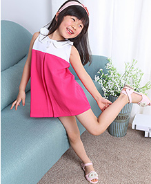 The KidShop One-Piece With Sequins Collar Dress - Fuschia