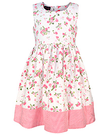 Pspeaches Floral Print Casual Dress - Pink